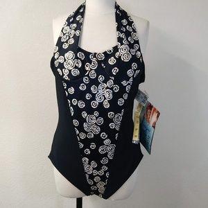 Vintage Carol Wior Slimsuit NOS Sz Swimsuit 18  S5